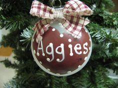 Aggie ornament..a must