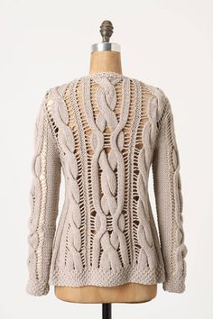 Openwork Cables Cardigan - anthropologie.com