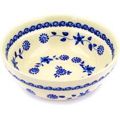 Polmedia Polish Pottery 7-inch Stoneware Bowl H9358D Hand Painted from Zaklady Ceramiczne in Boleslawiec Poland. Shape S326B(GU1152A) Pattern P3738A(272) Polmedia Polish Pottery http://www.amazon.com/dp/B0096EFQ1Y/ref=cm_sw_r_pi_dp_hMN-ub0K10KVM