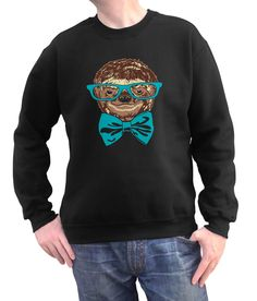 - soft, cozy 75% ring spun cotton/25% polyester fleece - hand printed in the USA with eco-friendly water-based inks - unisex fit -- perfect for both men and women Our unisex crew neck fleece sweatshir