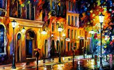 WHEN THE CITY SLEEPS - PALETTE KNIFE Oil Painting On Canvas By Leonid Afremov http://afremov.com/WHEN-THE-CITY-SLEEPS-PALETTE-KNIFE-Oil-Painting-On-Canvas-By-Leonid-Afremov-Size-30-x40.html?bid=1&partner=20921&utm_medium=/vpin&utm_campaign=v-ADD-YOUR&utm_source=s-vpin