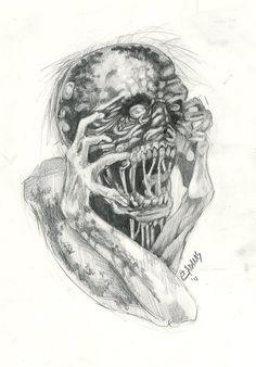 Tattoo Flash Art Zombie May zombie flash by elliadams