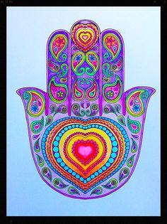 Hamsa for good luck Hand Wallpaper, Hamsa Art, Hamsa Tattoo, Spirited Art, Hand Of Fatima, Hippie Art, Oriental Pattern, Pebble Art, Pebble Painting