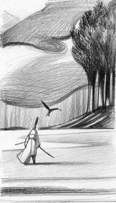 Pencil Illustration, Graphic Illustration, Graphic Art, Art Postal, Landscape Sketch, Expressive Art, Collage, Installation Art, Love Art