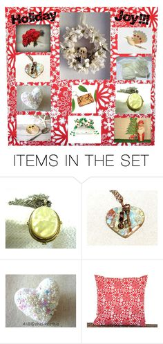 """""""Holiday Joy!"""" by the-little-empty-nest ❤ liked on Polyvore featuring art, Christmas, etsy, holidayshopping and DifferenceMakesUs"""