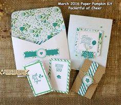 March Paper Pumpkin Projects #paperpumpkin, #rubberredneck, Stampin' Up! Demonstrator Holly Krautkremer