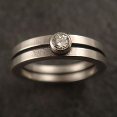 Square Wire Engagement Ring with Faceted by DownToTheWireDesigns, $175.00