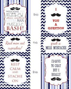 Mustache Birthday Party.