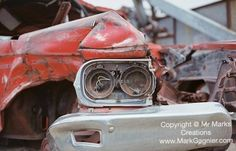These headlights have had a full rough life. Cool