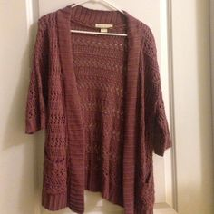 Knit Cardigan Cute purple open knit cardigan Urban Outfitters Sweaters Cardigans