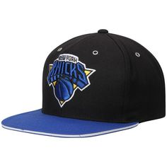 bfd611b990cb9a New York Knicks Mitchell & Ness 2-Tone Snapback Adjustable Hat - Blue/Black