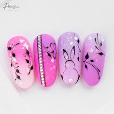 If you're looking to do seasonal nail art, spring is a great time to do so. The springtime is all about color, which means bright colors and pastels are becoming popular again for nail art. These types of colors allow you to create gorgeous nail art. Nail Art Designs, Easter Nail Designs, Easter Nail Art, Simple Nail Designs, Nails Design, French Nails, Cute Nails, My Nails, Shellac Nails