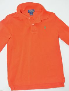 ralph lauren polo Boys Orange Long Sleeve Button down shirt Size: 6 #PoloRalphLauren #ButtonFront