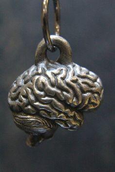 Anatomical Brain Pendant Necklace