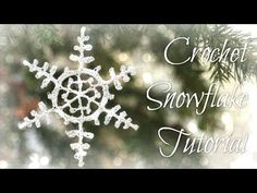 Learn how to crochet these simple and easy crochet snowflake ornaments! These look hard but they are only 3 rounds. Just three. Make them up to send in Chris...