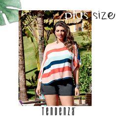 Todo o charme da Tendenza para o mulherão que tem estilo e gosta de se vestir bem com conforto. Coleção Verão 2017 Tendenza.
