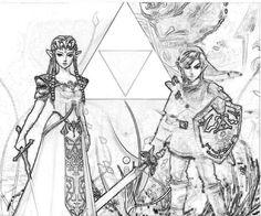 Legend Of Zelda Coloring Pages