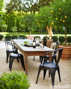 In Monica Bhargava's California house, dinner is often served outdoors. - Victoria Pearson