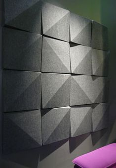 Soundwave Bella - Acoustic panel Anthracite grey | Acoustic wall panel Offecct