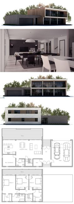 Modern Home Plan, Architecture, Modular Home Plan