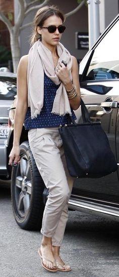 Purse – Tod's, Sunglasses – Ferragamo, Pants – Current/Elliott, Shoes – Trove Tkees (2010)