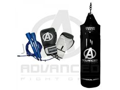 Boxing Equipment (3ft Bag, Glove, Skip Rope) Pack  This package includes the following items:  - 1 x AFG 3ft Boxing Bag  - 1 x AFG-EFG 10oz Fitness Gloves - Pair - 1 x Force USA Speed Cable Skipping Rope w/ Bearings  AFG Boxing Bag  - Electroplated Hanging Chain Included. - Rope stitching - 1000 Denier Ripstop Vinyl - High Density Foam Lining - Machine Compressed Bag Lining   For more info visit: http://www.gymandfitness.com.au/boxing-equipment-3ft-bag-10oz-glove-skip-rope-pack.html