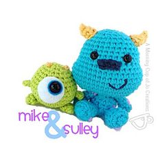 Monsters Inc. Baby Mike and Sulley - FREE Crochet Pattern and Tutorial