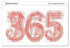 2016 Typography Calendar by Studio Hinrichs