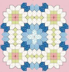 I like this layout of a Lucy Boston English Paper Piecing. EPP