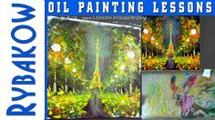 How to oil Paint Night Paris! Palette knife painting demo by Valery Rybakow http://lessons.rybakow.com/how-to-paint-paris.html