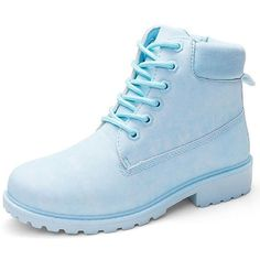 Pastel Lace Up Boots ($30) ❤ liked on Polyvore featuring shoes, boots, lace front boots, lace up boots, laced up boots, lacing boots and pastel shoes