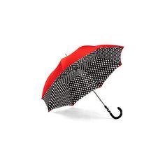 Aspinal of London Ladies Polka Dot Umbrella ($265) ❤ liked on Polyvore