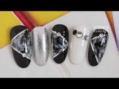 【Watch nail#654】Fashionable Blooming Marble-shaped Stone-lines【窝趣美甲推荐-第654期】百搭款 时尚晕染大理石纹 - YouTube