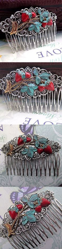 Hair Jewelry 164351: Strawberry Hair Comb Decorative Combs Silver Over Brass Bridal Hair Accessories -> BUY IT NOW ONLY: $30 on eBay!