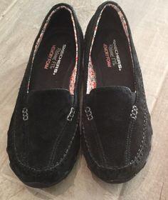 Women's SKETCHERS Relaxed Fit Memory Foam black slip on shoes size 8  | eBay