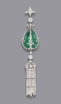 Diamond and Jade Pendant, 1900