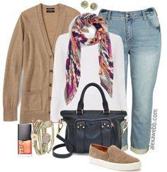 Plus Size Boyfriend Jeans Outfit - Plus Size Fashion for Women - Alexa Webb - alexawebb.com #alexawebb