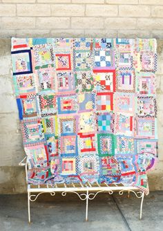 Unfinished Quilt 1940s Bedspread Linen Folk by ForestDaydream.    I love this quilt top, so perfectly Americana a la 30s-40s!