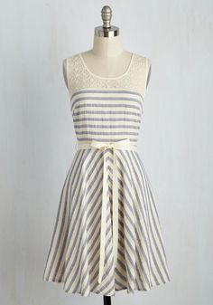 I like the lace and the stripes with the flattering cut