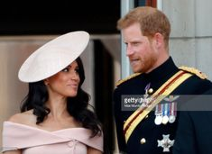 Meghan, Duchess of Sussex and Prince Harry, Duke of Sussex stand on the balcony of Buckingham Palace during Trooping The Colour 2018 on June 2018 in London, England. The annual ceremony involving. Kate And Harry, Prince Harry And Megan, Harry And Meghan, Princess Meghan, Princess Diana, Trooping The Colour 2018, Meghan Markle News, Kate And Meghan, Royal Prince
