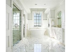 love the marble Texas Homes, New Homes, Master Suite Bedroom, Master Closet, Bathroom Layout, Bathroom Ideas, Bath Ideas, Ladera Ranch, White Bathroom