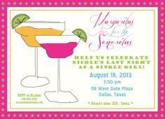 Margaritas for the Senoritas Girl's Night/Bachelorette Party/Lingerie Shower Invitation