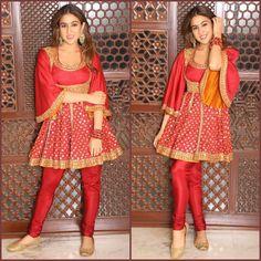 Sara Ali Khan…makes me damn crazy …. Diwali Outfits, Diwali Dresses, Bollywood Outfits, Bollywood Fashion, Bollywood Style, Hijab Fashion, Pakistani Dresses Casual, Indian Dresses, Indian Outfits