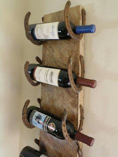 Old horseshoe wine rack ♡