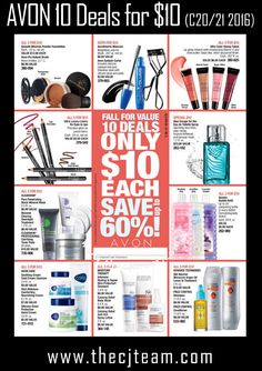 Avon Campaign 20/21, 2016 - 10 Buys for $10 and save up to 60%! Shop Avon…