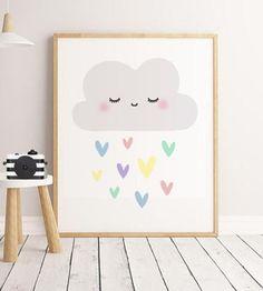 Cloud Nursery Art Baby Nursery Print Nursery Decor Nursery Wall Art Art And CollectiblesGirls N Nursery Letters, Nursery Prints, Nursery Wall Art, Girl Nursery, Nursery Decor, Marvel Nursery, Space Themed Nursery, Clouds Nursery, Or Mat