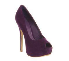 Office Reim Purple Nubuck - High Heels
