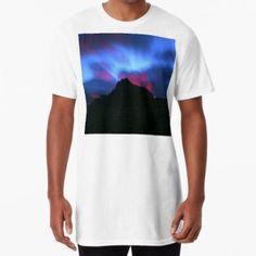 'Sunrise at Logan Pass, Glacier National Park, Montana ' Long T-Shirt by Christina Appling Glacier National Park Montana, Large Prints, Tshirt Colors, Logan, Soft Fabrics, Sunrise, National Parks, Shirt Designs, Funny Quotes