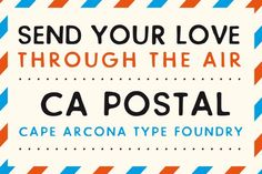 Nice CA Postal font CreativeWork247 - Fonts, Graphics, Themes, Templates...