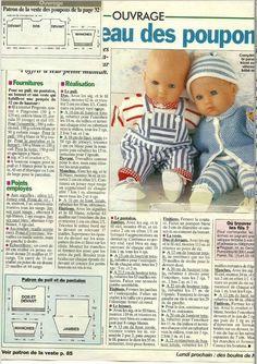 un cadeau d'Evelynelyne pour poupées ou poupons de 52 cm au tricot